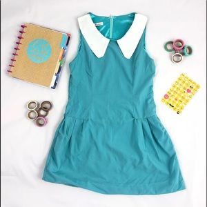 8f5fb6805c1c Other - Turquoise Sleeveless Summer Mini Dress w/Collar M